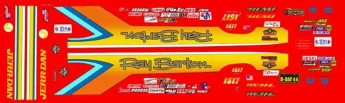 Jim Daniels Hemi Dart Ray Barton 1//64th HO Scale Slot Car Waterslide Decals
