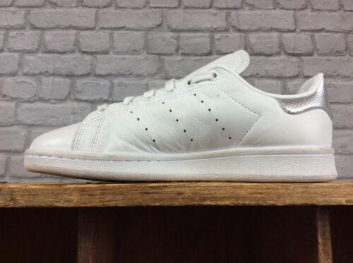 da Uk ginnastica Eu 38 Ladies perforate Smith Scarpe Adidas Silver 5 White Stan FwC8Wxq5