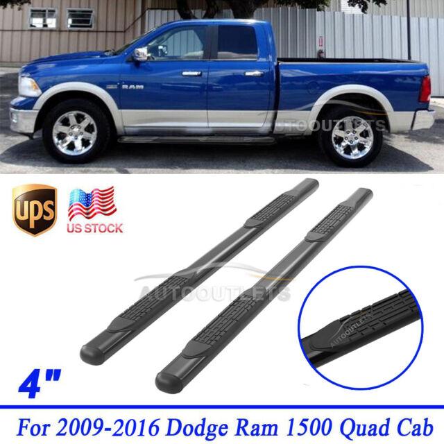 For 2009 2016 Dodge Ram 1500 Quad Cab 2 Pcs 4 Black Side Step Running Boards Online Ebay