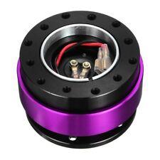 Purple Car Quick Release Steering Wheel Snap Off Hub Adapter Boss Kit 6 Hole