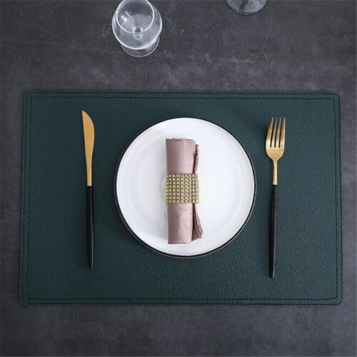 Restaurant en cuir synthétique sets de table//table de salle à manger couverts Tapis