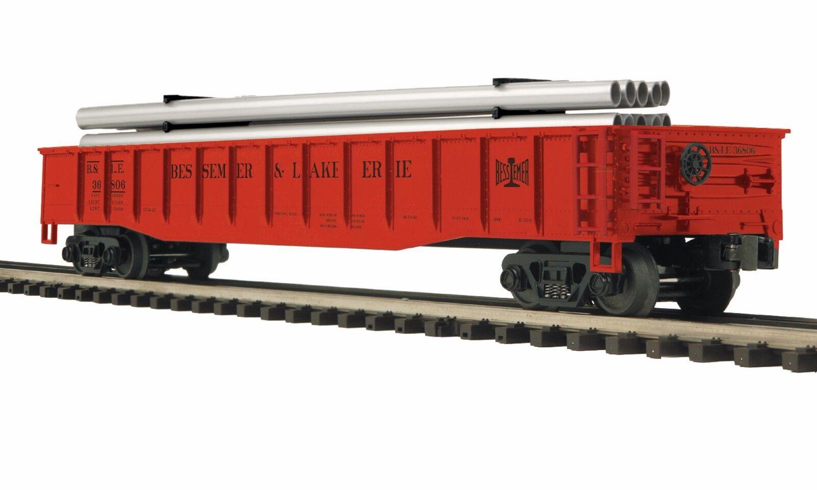 20-95267 Bessemer & Lake Erie Gondola Car w Pipe Load () - MTH Premier