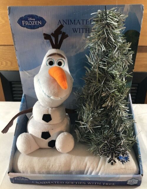 NEW Disney Frozen Olaf Animated Softies With Tree Interactive Toys Christmas