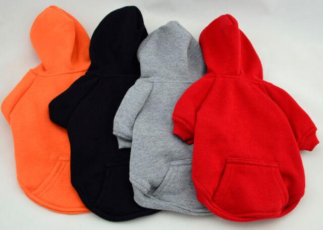 Warm Winter Small Dog Pet Hoodies Sweater Clothes Apparel Outfit Coat Sz XXS-XL