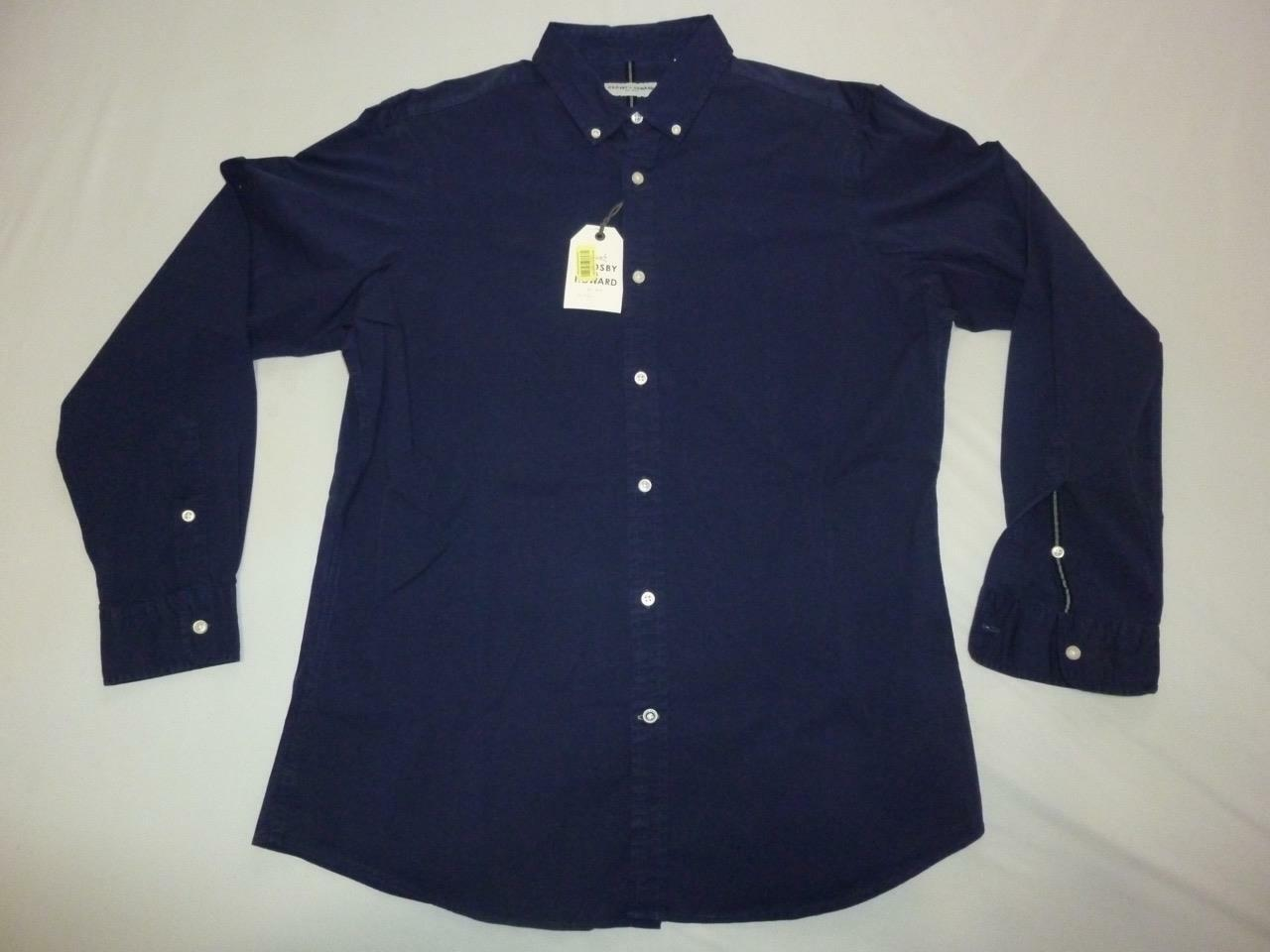 0e217aa1116 Crosby Navy Button Front L S Dress Shirt Size L NWT & Howard ...