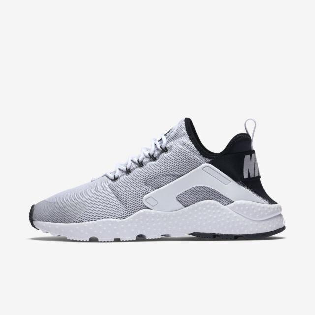 Nike air Huarache Ultra 819151 Femme Baskets en Blanc Noir 819151 Ultra UK a8fd5a