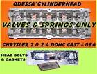 Interchange Part Number DUAL CAM  086  NEON  2.2L 2.4L BOLT GASKET, DODGE PLYMOUTH Avenger CARAVAN COMPASS