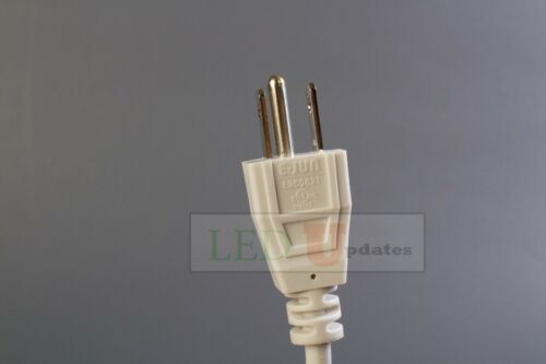 3 prong grounded AC UL Plug 10ft Integrated LED TUBE wire with ON//OFF switch