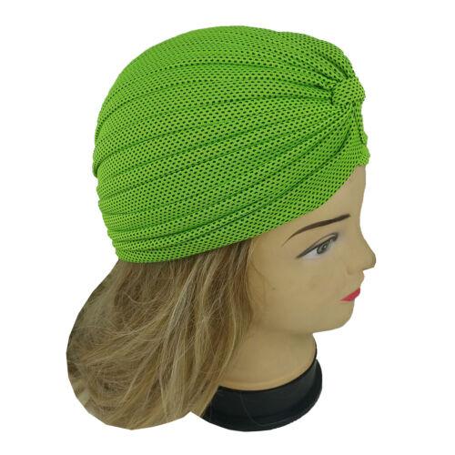 Women Stretchy Turban Head Wrap Band Chemo Bandana Hijab Pleated Indian Cap Hat