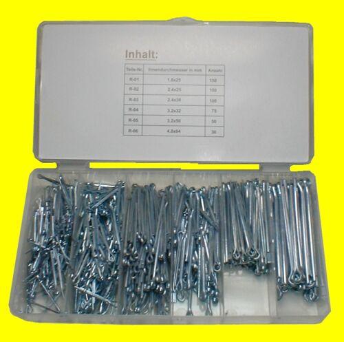 BGS 8048 Set Satz Splinte gerade Ausführung 555 teilig in Box aus Kunststoff NEU