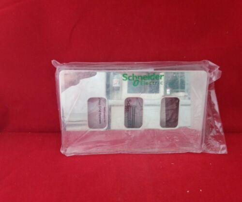 SCHNEIDER Get GUGS 03GMS 3 G 3 Module Screwless Miroir Acier Grille Plaque Avec Bascule
