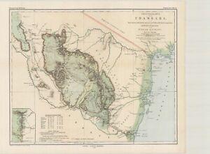 1889-Originalkarte-von-Usambara-Tanzania