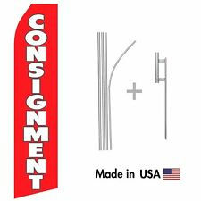 Consignment Econo Flag 16ft Advertising Swooper Flag Kit With Hardware