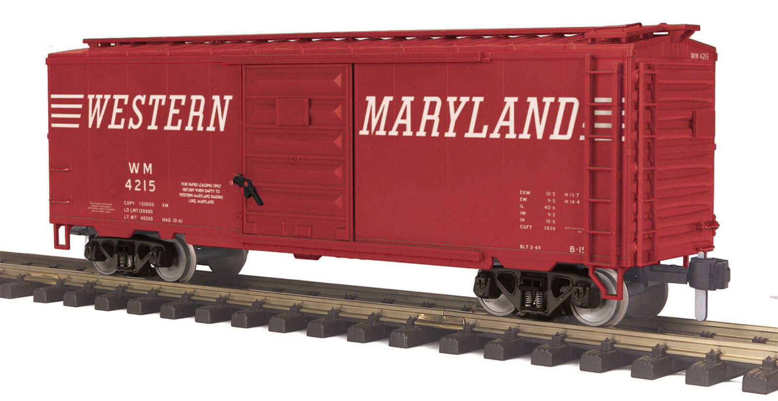 MTH G Gauge 40' Box Car - - - Western Maryland  MTHRRC  70-74090 49d3bc