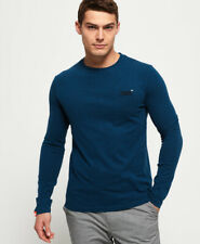 Superdry Mens Organic Cotton Vintage Embroidery Long Sleeve Top