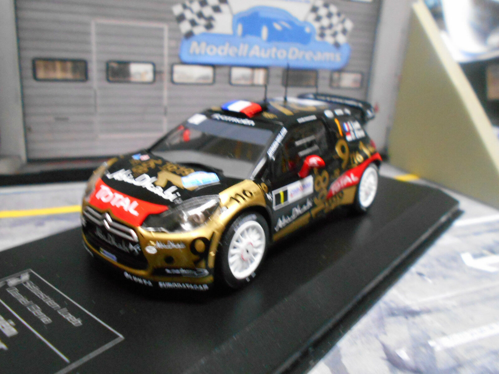 CITROEN ds3 wrc rallye France 2013  1 Loeb total Coupe du monde Abu Dhabi DCC IXO 1 43