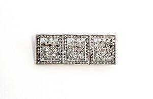 9901619-925er-Silber-Art-deco-Brosche-mit-Swarovski-Steinen-L4cm
