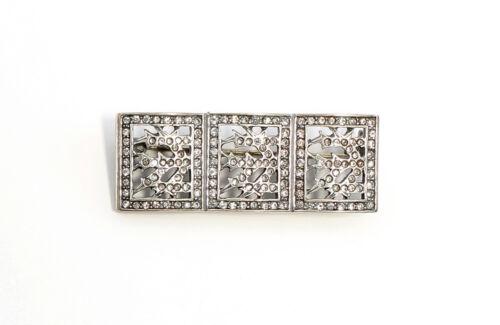 925er Silber Art déco-Brosche mit Swarovski-Steinen 9901619
