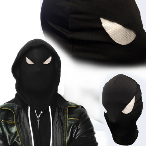 Lycra Spandex Zentai Costume Halloween Party Mask//Hood Open Face//Eyes//Full Hood