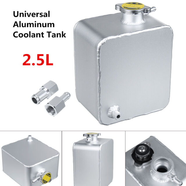 Universal 1L Coolant Radiator Overflow Recovery Water Tank Bottle Silver