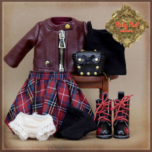 HC0080A-8-Ten-Ping-Grunge-BELINDA-CLOTHES-RUBY-RED-GALLERIA-NO-DOLL-INCLUDED