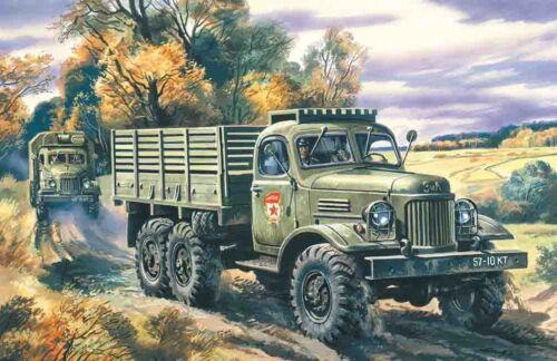 Neu ICM 72541-1:72 Russischer Militär LKW ZiL-157