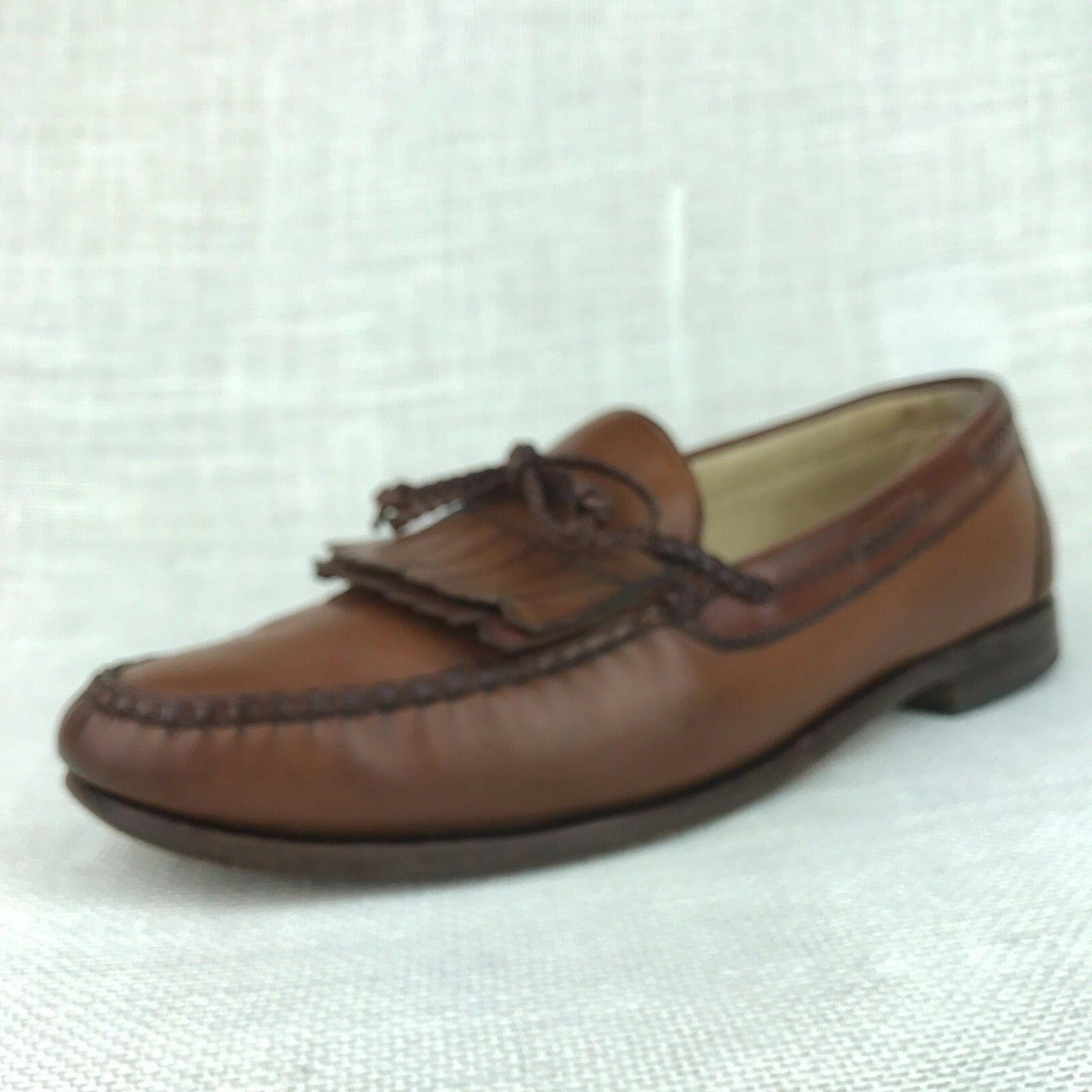 lo stile classico Allen Edmonds Woodstock US 11 D Marrone Leather Kiltie Tassel Tassel Tassel Dress Loafers USA  promozioni di sconto
