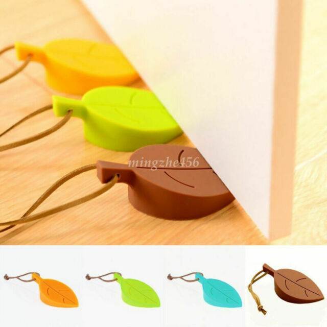 Ganzool Door Stopper Pinch Guard Silicone in Leaf Base Rubber Yellow