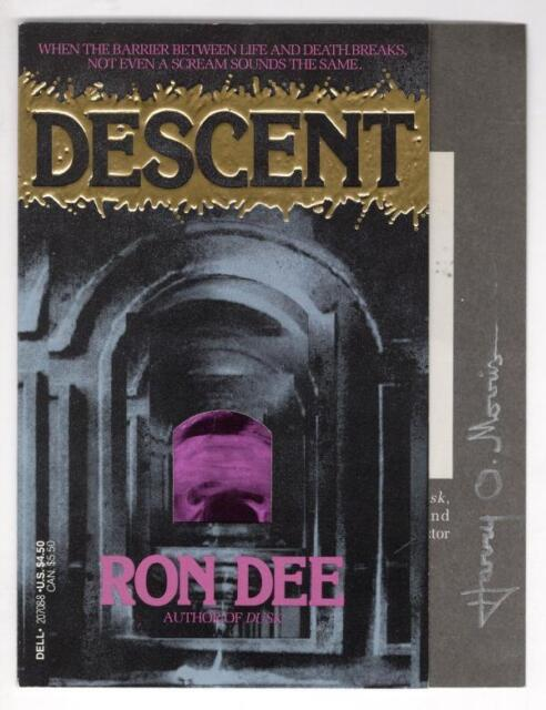 Descent by Ron Dee (First printing) No Book, COVER PROOF Signed by Harry O. M...