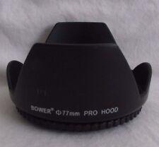 Used Lens Hood: H10830 77mm Bower screw in 18-200mm