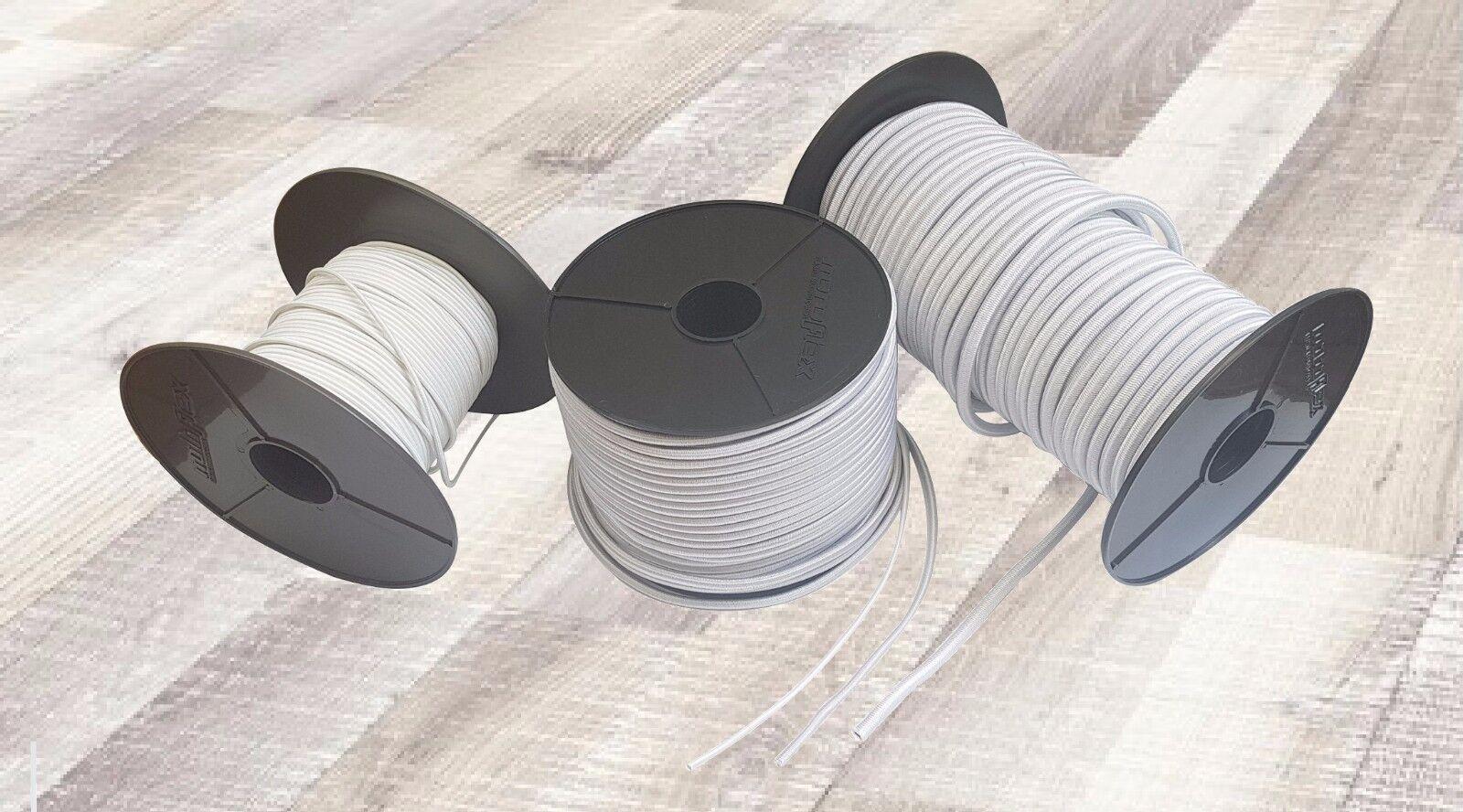 Expanderseil Gummiseil Gummileine Planenseil Seil Plane in Weiss 3mm - - - 10mm 838c5a