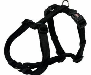 Black Trixie Nylon Harnesses Dogs 15mm Premium H-harness S-m 40-65 Cm