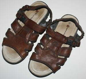 2549ffaab347 Earth Shoes Mens Sandals Size 10.5 Brown Sunshine II Leather Upper ...