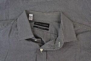 Ralph-Lauren-Black-Label-Tailored-Fit-Black-White-Plaid-Cotton-Dress-Shirt-16-5