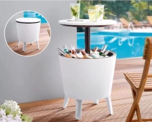Cool Bar Coolbar All in One Cooler Party Table Coffee Garden Patio Ice Box -