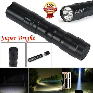 3W Super Bright Police LED lamp With Clip Clamp AA Flashlight Torch Light