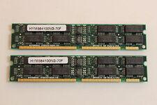 HYUNDAI HYM564100NG-70F DIMM MEMORY RAM 168 PIN HYM5641000N-70F QTY 2