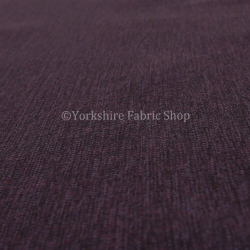 10 Metre Of Plain Weave Textured Chenille Upholstery Sofa Interior Fabric Purple