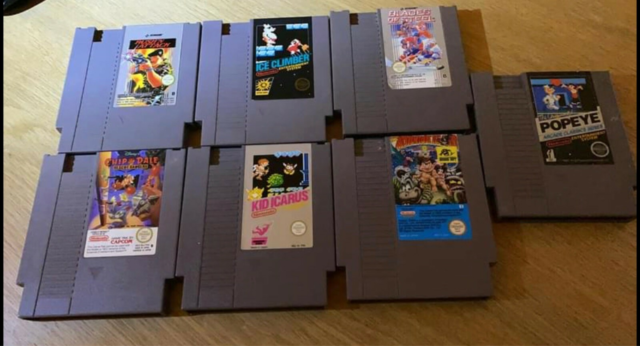 7 Nes spil, NES, Wonderboy Chip and dale Blades of…