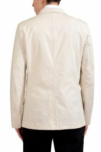 Malo Men/'s Off White Stretch Three Button Blazer Sport Coat Size 38 40 42 44 46