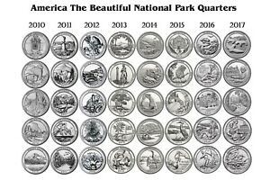 2010-2017-ATB-NATIONAL-PARK-40-COIN-QUARTER-SET-Denver-Mint