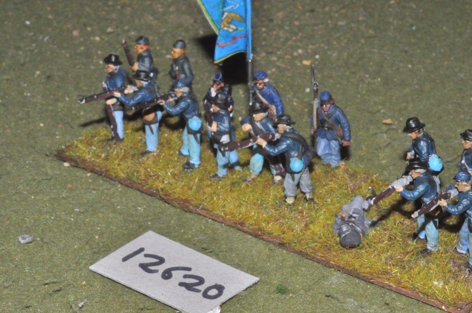 25mm ACW   union - american civil war infantry plastic 16 figs - inf (12620)