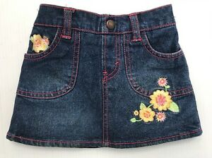 Levis Jeans 18m Cowgirl Pink Embroidered Flowers Skirt Toddler Girl Cowboy Texas Baby & Toddler Clothing