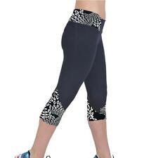 NEW Womens Yoga Sport Pants High Waist Leggings Running Gym Fitness Trousers L*