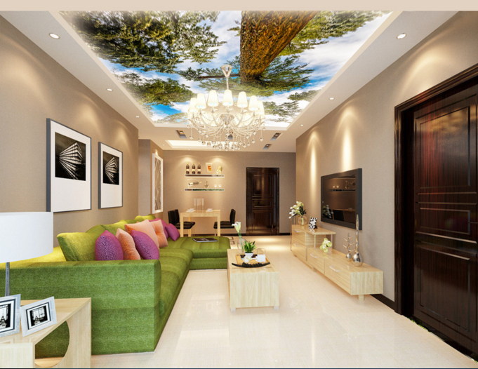 3D Tall Trees 409 Ceiling WallPaper Murals Wall Print Decal Deco AJ WALLPAPER UK