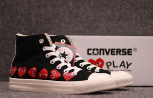 Details about COMME DES GARCONS PLAY Chuck Taylor x CONVERSE Multi Heart Limited Edition
