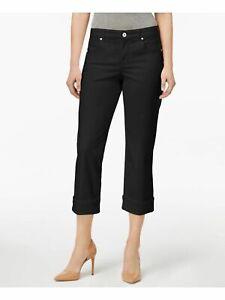 Style & Co. women 12P black pocketed curvy capri jeans