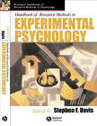 Handbook of Research Methods in Experimental Psychology by John Wiley and Sons Ltd (Hardback, 2003)