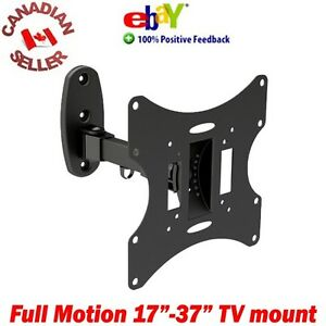LCD-TV-Monitor-Wall-Mount-17-37-034-20-Tilt-180-Swivel-arm-19-20-21-22-24-27-32-034