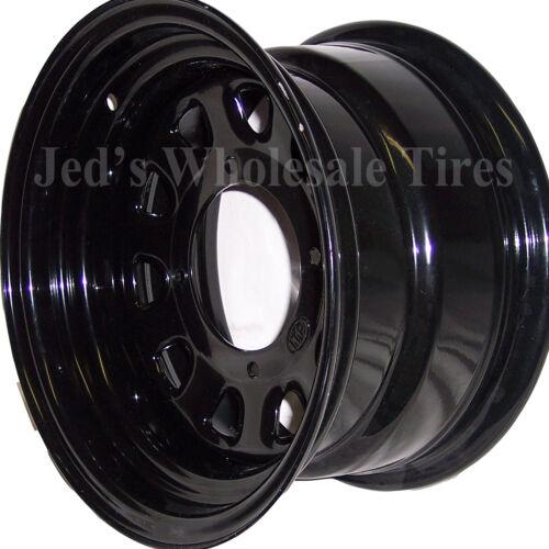 """12/"""" 12x7 4+3 4//137 ITP Delta Steel Black D-Window DOT RIM WHEEL D12F532 12mm 1"""